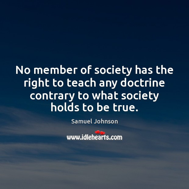 Image, No member of society has the right to teach any doctrine contrary