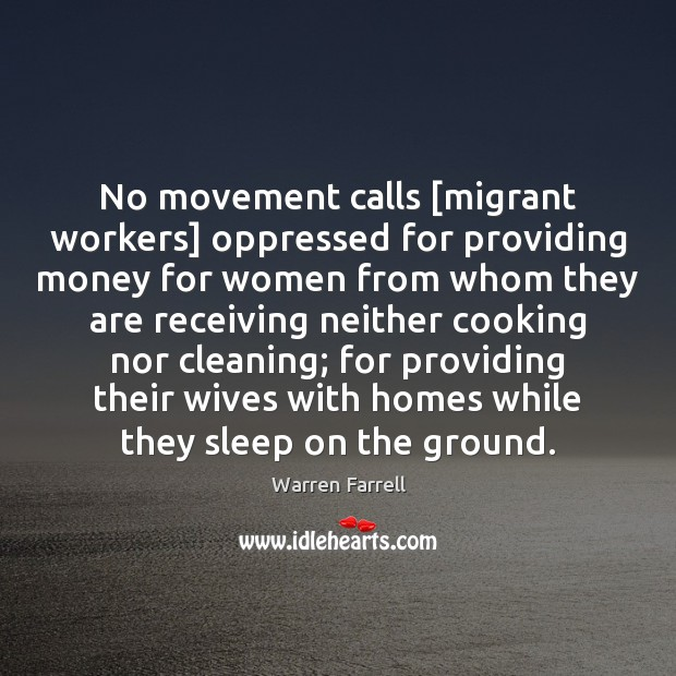 No movement calls [migrant workers] oppressed for providing money for women from Image