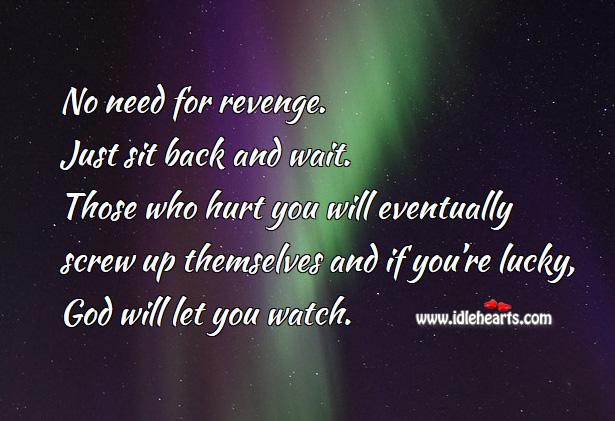 Image, No need for revenge
