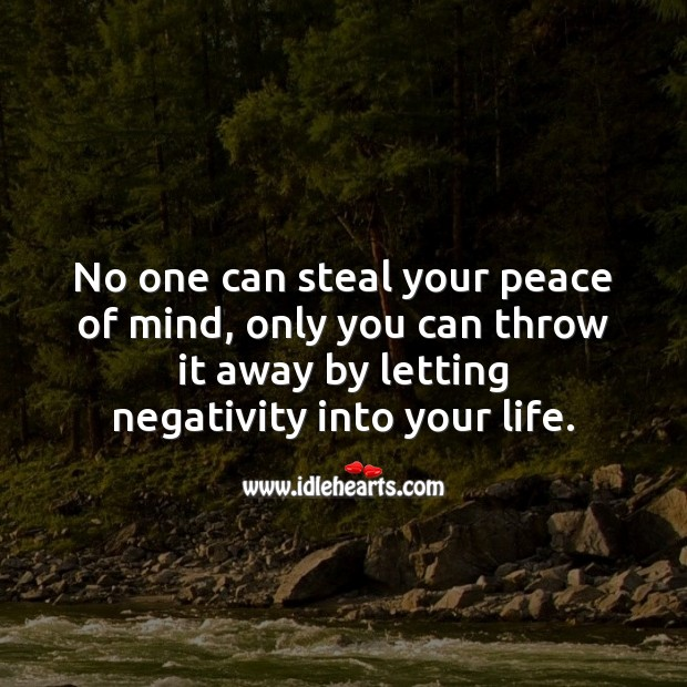 Image, No one can steal your peace of mind.