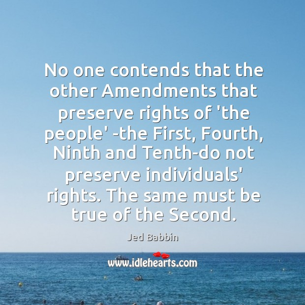No one contends that the other Amendments that preserve rights of 'the Image