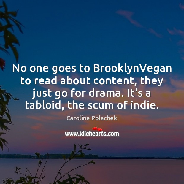 Image, No one goes to BrooklynVegan to read about content, they just go