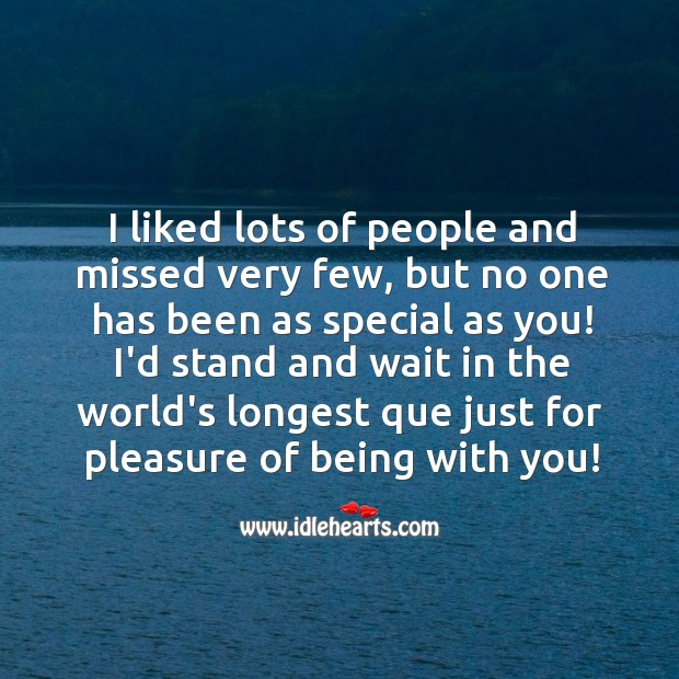 No one has been as special as you! Love Messages Image