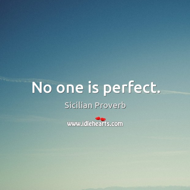 Image, No one is perfect.