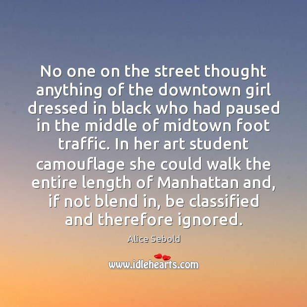 No one on the street thought anything of the downtown girl dressed Image