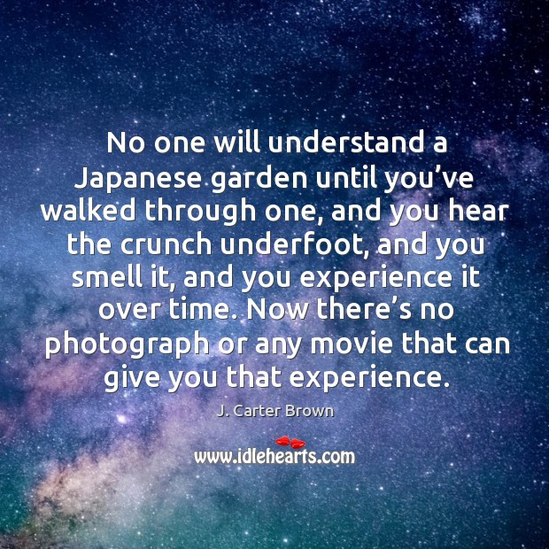 No one will understand a japanese garden until you've walked through one Image