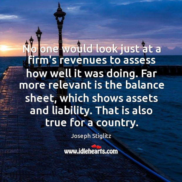 Image, No one would look just at a firm's revenues to assess how