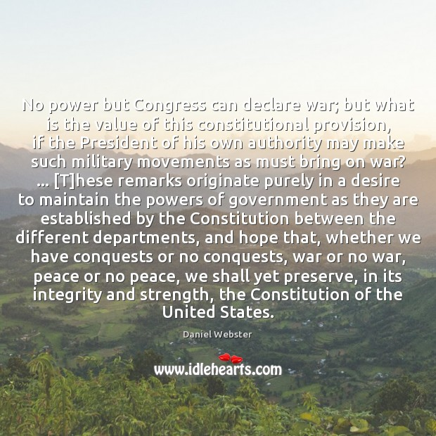 No power but Congress can declare war; but what is the value Image