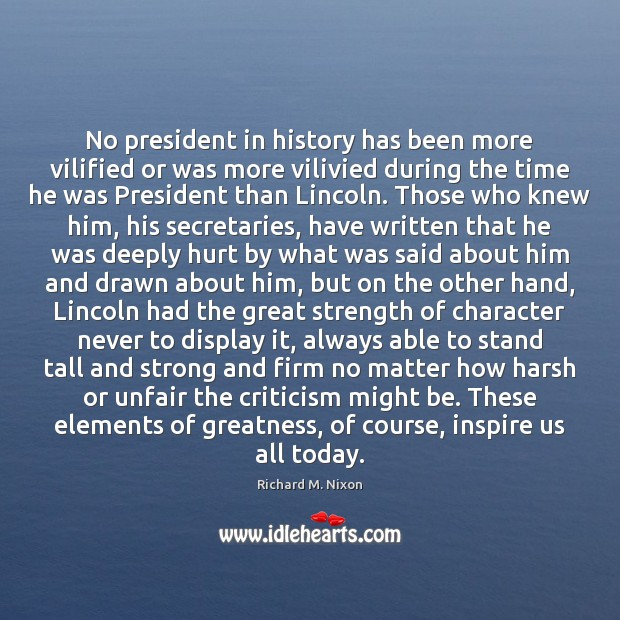Image, No president in history has been more vilified or was more vilivied