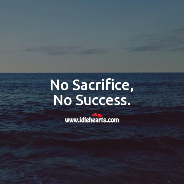 No Sacrifice, No Success. Sacrifice Quotes Image