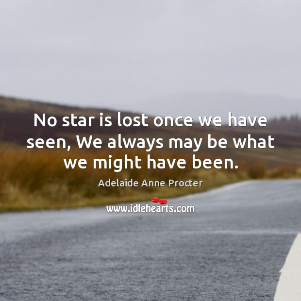 No star is lost once we have seen, We always may be what we might have been. Image
