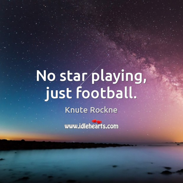 Image, No star playing, just football.