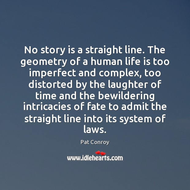 No story is a straight line. The geometry of a human life Image