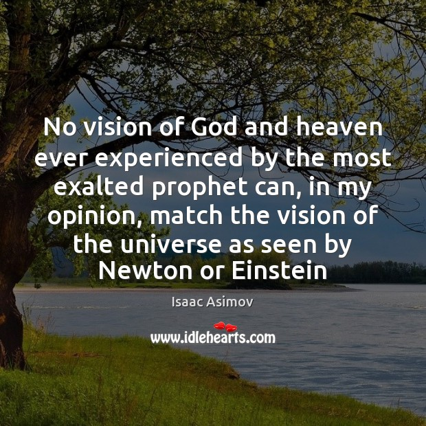 Image, No vision of God and heaven ever experienced by the most exalted