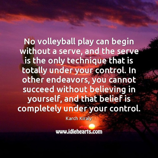 No volleyball play can begin without a serve, and the serve is Image
