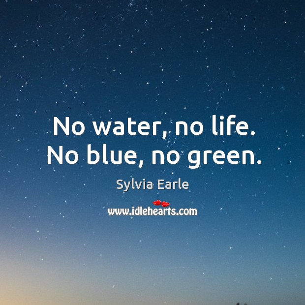 No water, no life. No blue, no green. Image