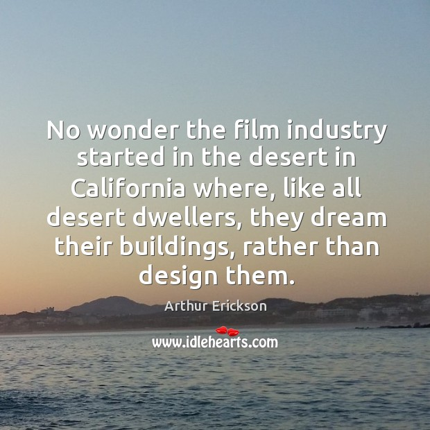 Image, No wonder the film industry started in the desert in california where