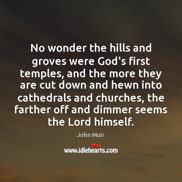 No wonder the hills and groves were God's first temples, and the Image