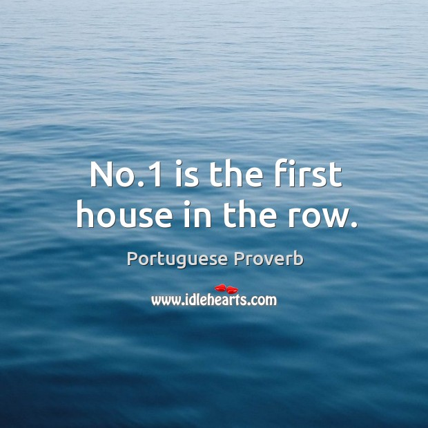 No.1 is the first house in the row. Image