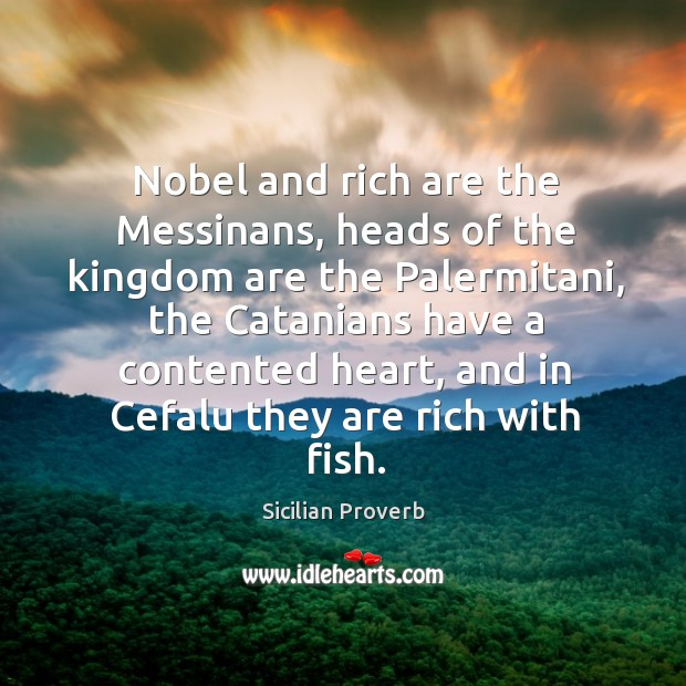 Nobel and rich are the messinans Image