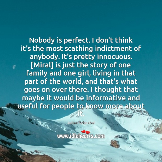 Nobody is perfect. I don't think it's the most scathing indictment of Image