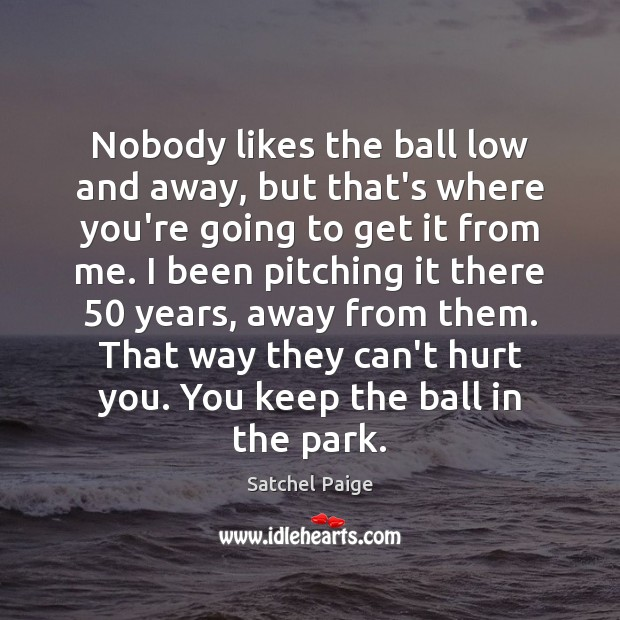 Image, Nobody likes the ball low and away, but that's where you're going
