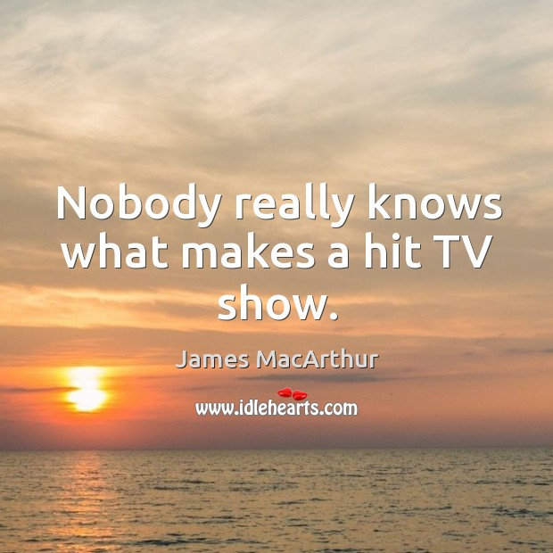 Nobody really knows what makes a hit tv show. Image