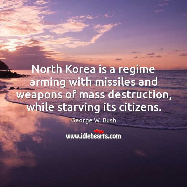 Image, North Korea is a regime arming with missiles and weapons of mass