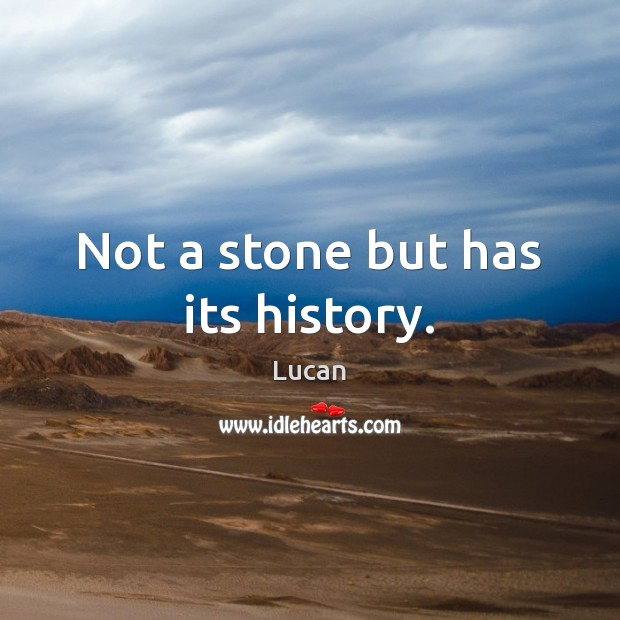Not a stone but has its history. Image