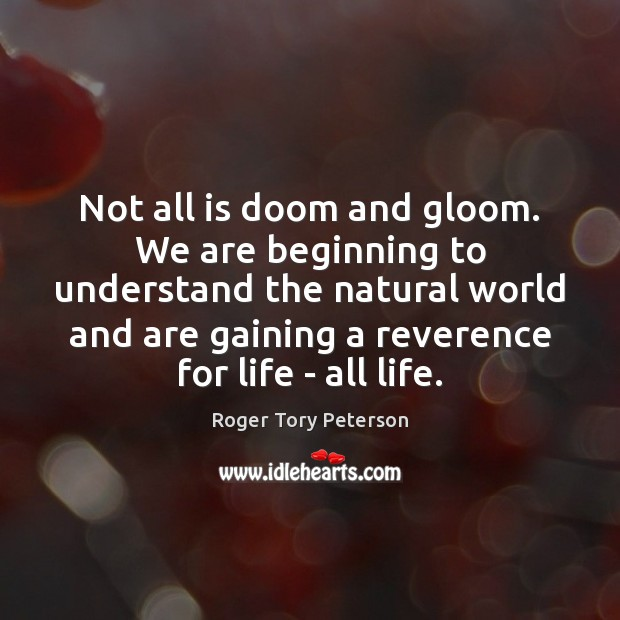 Not all is doom and gloom. We are beginning to understand the Image