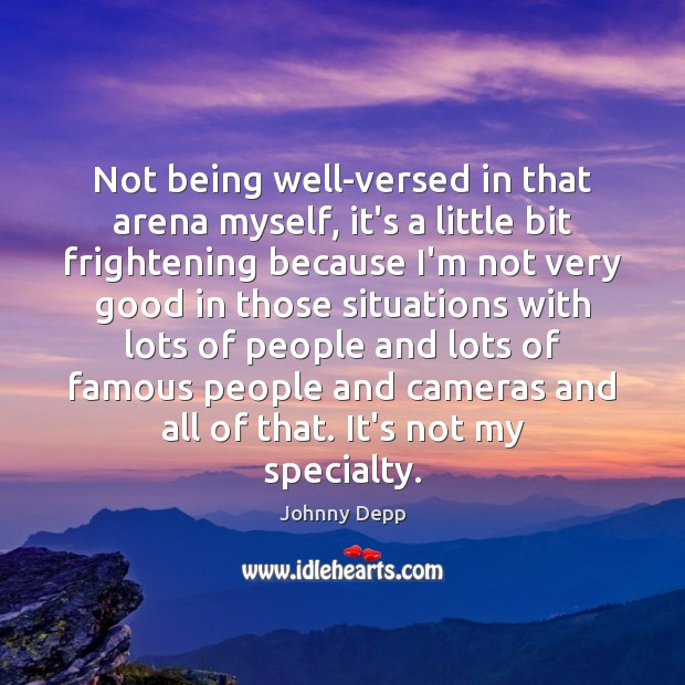 Image, Not being well-versed in that arena myself, it's a little bit frightening