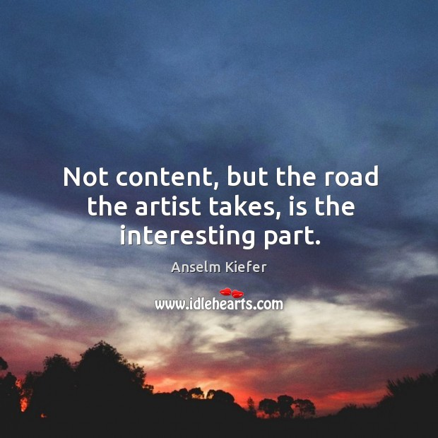 Not content, but the road the artist takes, is the interesting part. Image