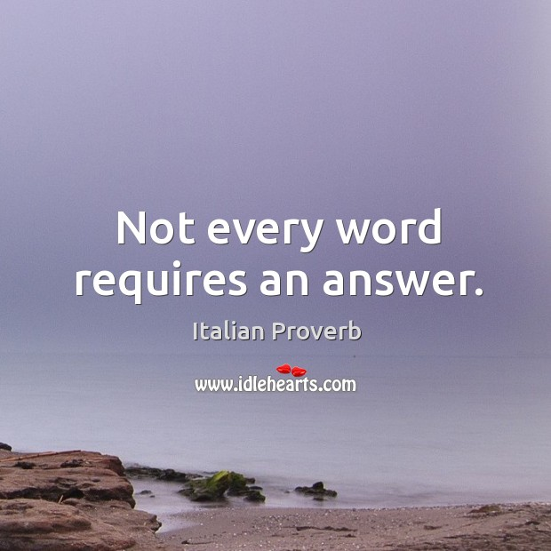 Image, Not every word requires an answer.