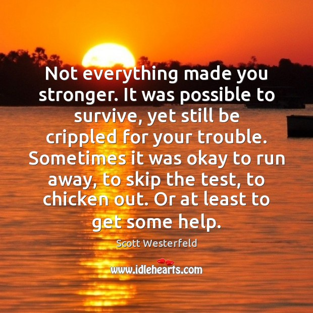 Image, Not everything made you stronger. It was possible to survive, yet still