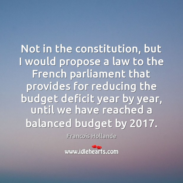 Image, Not in the constitution, but I would propose a law to the
