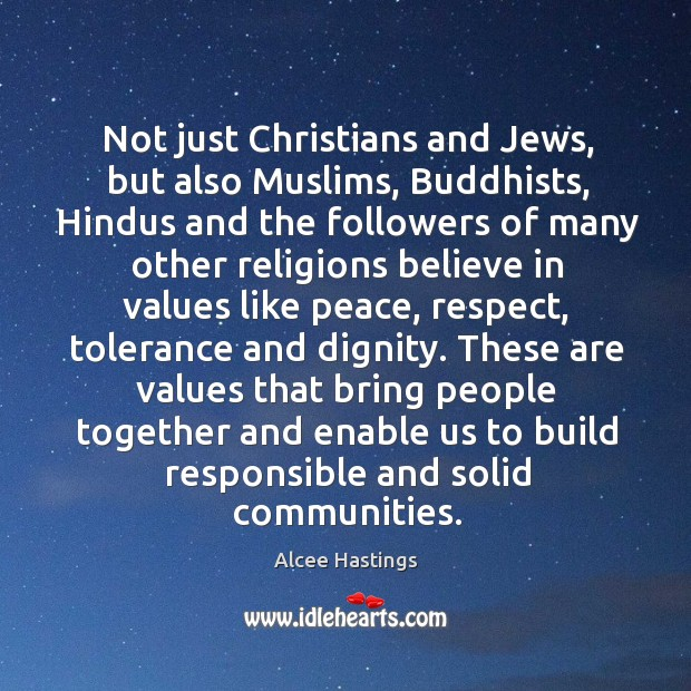 Image, Not just christians and jews, but also muslims, buddhists, hindus and the followers