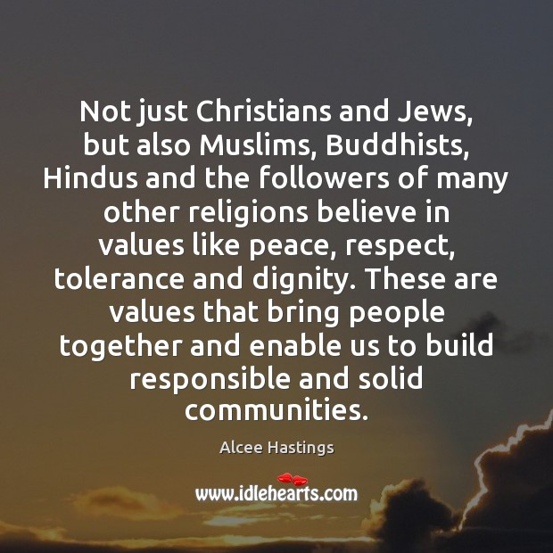 Image, Not just Christians and Jews, but also Muslims, Buddhists, Hindus and the
