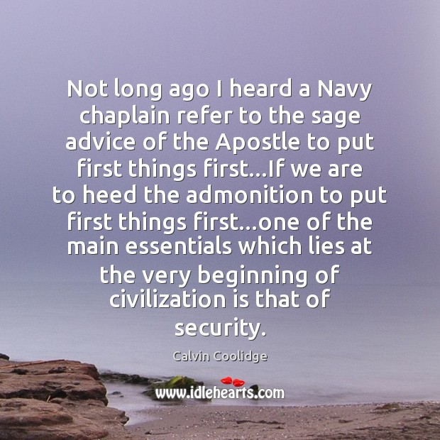 Image, Not long ago I heard a Navy chaplain refer to the sage