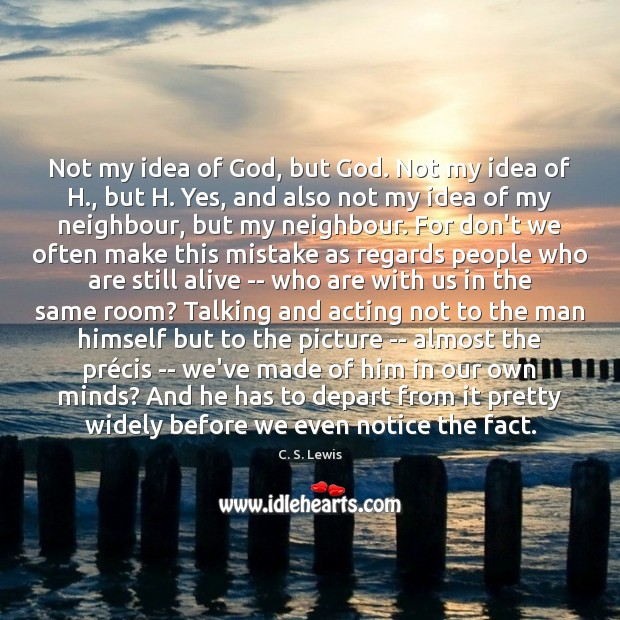 Not my idea of God, but God. Not my idea of H., Image
