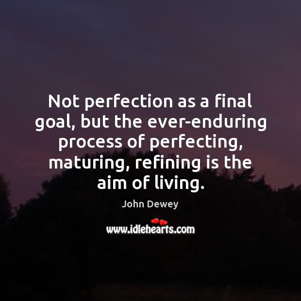 Image, Not perfection as a final goal, but the ever-enduring process of perfecting,