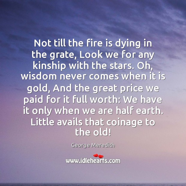 Not till the fire is dying in the grate, Look we for Image