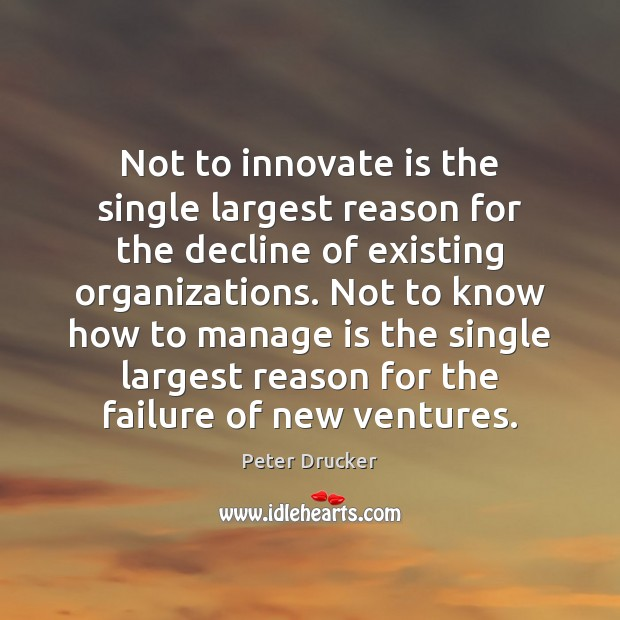 Not to innovate is the single largest reason for the decline of Image