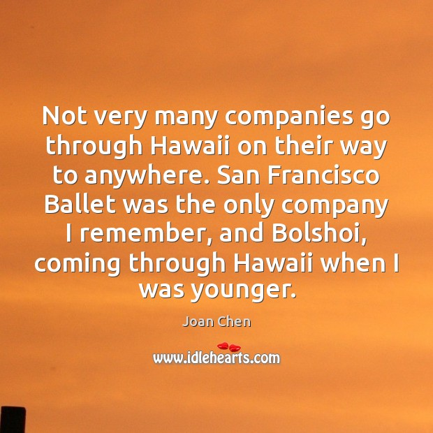 Image, Not very many companies go through Hawaii on their way to anywhere.