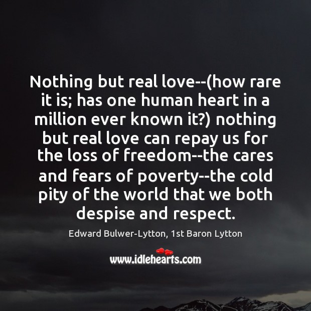 Image, Nothing but real love–(how rare it is; has one human heart