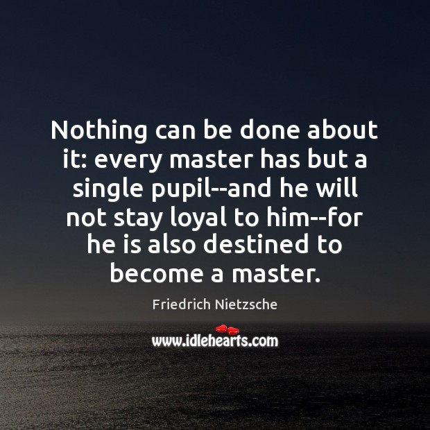 Nothing can be done about it: every master has but a single Image