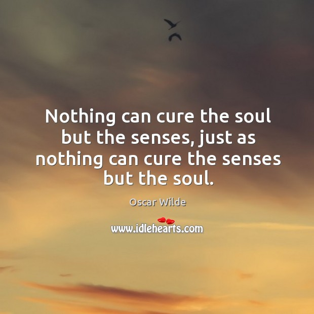 Image, Nothing can cure the soul but the senses, just as nothing can cure the senses but the soul.