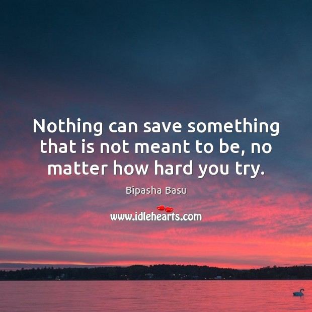 Image, Nothing can save something that is not meant to be, no matter how hard you try.