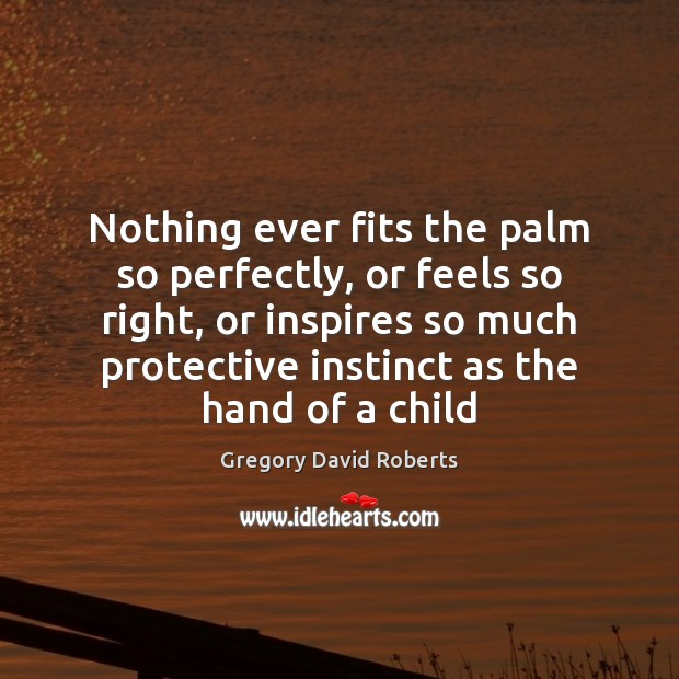 Nothing ever fits the palm so perfectly, or feels so right, or Gregory David Roberts Picture Quote