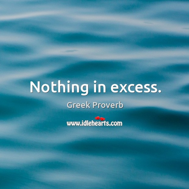 Image, Nothing in excess.