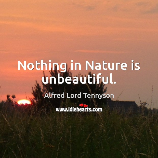 Image, Nothing in Nature is unbeautiful.